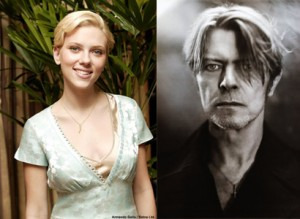 David Bowie and Scarlett Johansson