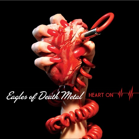 Eagles of death Metan heart on cover art