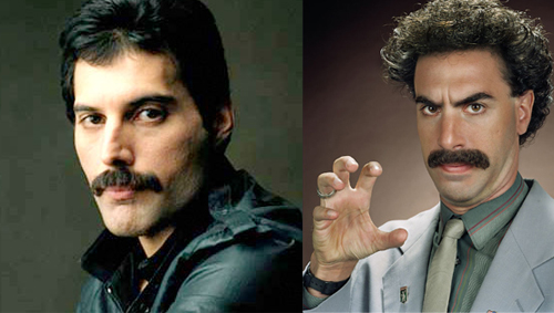 One can see the resemblance, but is Cohen capable to fill Freddie Mercury's immense shoes? I'm skeptical.