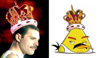 Freddie Mercury - Angry Bird: Source