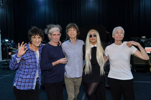 Source. Lady Gaga and The Rolling Stones